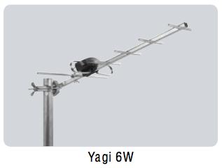 Decimetru antena ar vāju Virszemes TV signāla pastiprinājumu