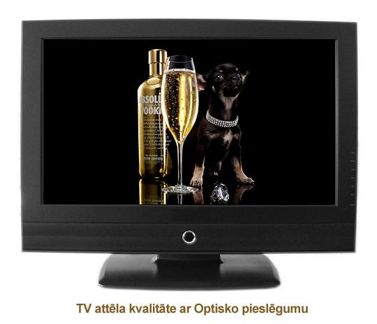 Ciparu TV attēls ar Optisko pieslēgumu